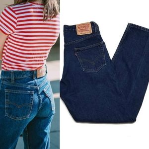 Vintage Levi's 550 Relaxed Fit Dark Wash Mom Jeans